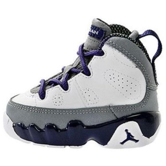 finest selection de3dd 3e781 Toddlers Nike Air Jordan Retro 9 IX Purple Size 8C.  M 5a568afd5512fd1677000d47